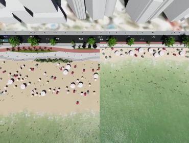 Balneário Camboriú inicia obra de alargamento da faixa de areia